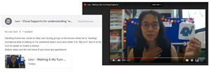 Teacher Showing Flash Card